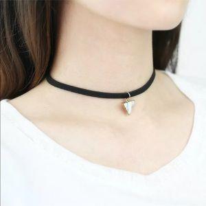 Jewelry - ✨White Marble Triangle Pendant Choker✨